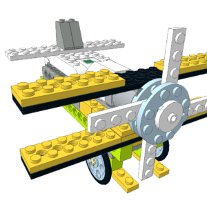 025 Lego wedo avión biplano