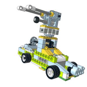 413 Lego wedo Camión con ametralladora
