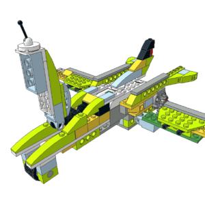 432 Lego wedo avión combate