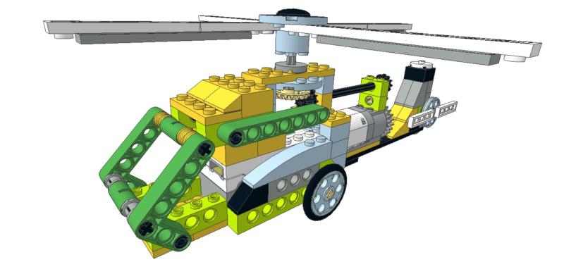 234 Lego wedo Bulldózer