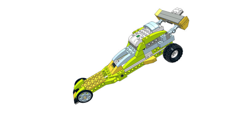 483 Lego wedo Dragster car